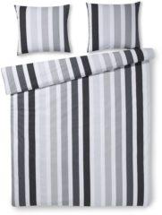 Day Dream Teun dekbedovertrek - 100% katoen - Lits-jumeaux (240x200/220 cm + 2 slopen) - 2 stuks (60x70 cm) - Grijs