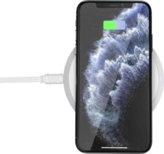Wireless Fast Charger - Draadloze Oplader voor iPhone/Samsung - 15W - Snellader - Wit