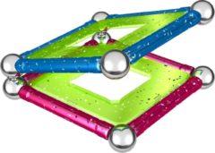 Paarse Selecta Spel en Hobby Geomag Panels Glitter 22 delig