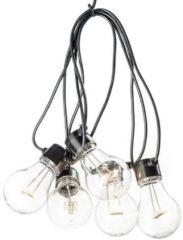 Konstsmide 2372-100 Party-lichtketting Buiten werkt op batterijen 5 + 40 Gloeilamp, LED Helder, Warm-wit Verlichte lengte: 2 m