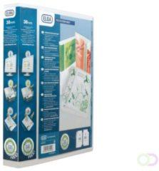 Witte Elba personaliseerbare ringmap Polyvision Maxi rug van 5 cm