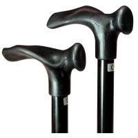 Comforthulpmiddelen Opvouwbare wandelstok - comfortgreep - rechtshandig -zwart