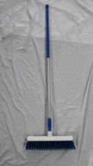 Blauwe Falcon Borstel hygienisch 40 cm + ergonomische aluminium steel