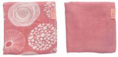 Witlof for kids hydrofiele doek 80x80 cm Sparkle roze - set van 2