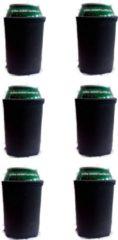 Koozie.eu 6 x bier - frisdrank blik koelhoud hoesje in Zwart |bierblik hoesjes | Festival | Vakantie | Strand | Carnaval