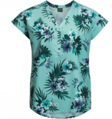 Jack Wolfskin - Women's Victoria Tropical Shirt - Blouse maat S, turkoois