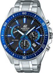 Casio Chronograaf Horloge EFR-552D-1A2VUEF (l x b x h) 53 x 47 x 12.3 mm Zilver-blauw Materiaal (behuizing): RVS Materiaal (armband): RVS