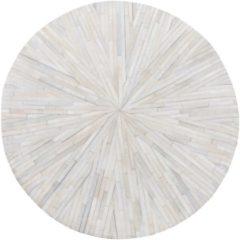Witte Beliani Simav Vloerkleed Koeiehuid Leer 140 X 140 Cm