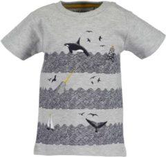 Grijze Blue Seven Unisex T-shirt Maat 68