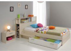 Jugendbett mit Nako 'Charly 17' Akazie-Weiß Parisot Akazie / Weiß