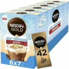 Nescafé Gold Iced Cappuccino oploskoffie - 6 doosjes à 7 zakjes
