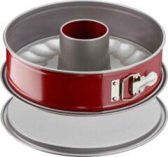 TEFAL Delibake Savarin Mould in staal - Ø 25 cm - Rood en grijs - Met scharnieren