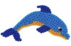 Witte Hama beads Hama strijkkralen grondplaat - Dolfijn