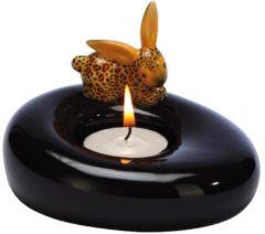 Leopard Bunny - Teelichthalter Bunny de luxe Goebel Bunt