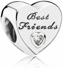 Zilveren Pandora Best Friends heart with clear cubic zirconia 791727CZ