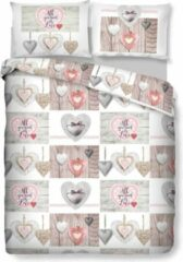 Witte Inspirations Dekbedovertrek Heart on Wood 240 x 200/220