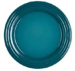 Blauwe LE CREUSET - Aardewerk - Ontbijtbord 22cm Deep Teal