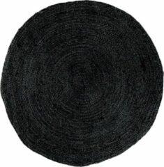 Artichok Milou vloerkleed - Jute - Rond Ø180 cm - Zwart