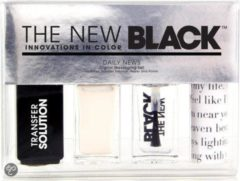 Zwarte The New Black Typography - Daily News - Nagellak
