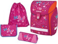 Herlitz Midi Plus Butterfly Mädchen Polyester Mehrfarben Schulranzen-Set 50007837