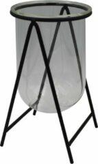 Housevitamin Glazen Vaas In Metalen Frame - Bloemenvaas In Standaard 11,5x20 Cm