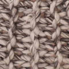 VidaXL Poef handgebreid 50x35 cm stof wol-look lichtgrijs