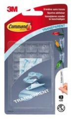 Command decohaak, extra small, draagvermogen 225 gram, transparant, blister van 20 stuks