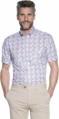 Blauwe Campbell Classic Casual overhemd korte mouw