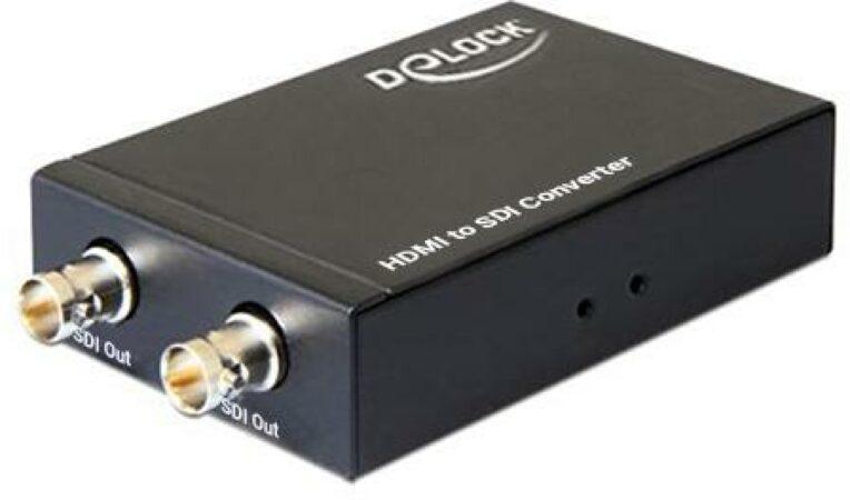 Afbeelding van DeLOCK 93238 kabeladapter/verloopstukje HDMI-A 2 x BNC Zwart