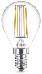 Philips Lighting 8718696587317 LED-lamp E14 Kogel 4 W = 40 W Warmwit Filament / Retro-LED Energielabel A++ (A++ - E) 1 stuks