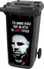 Rode Container sticker, the God Father, containersticker, CoverArt, Marlon Brando, afvalbak stickers, pimp je kliko, Don Vito Corleone