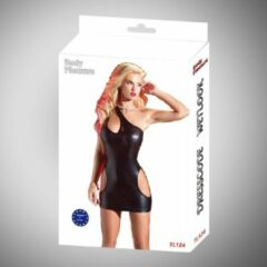 Zwarte Body Pleasure - Wetlook Lingerie - super strakke stijlvolle jurk - Tl124 - Sexy Dress - Medium/ small size - gave Cadeaubox - ideaal om te geven of te ontvangen