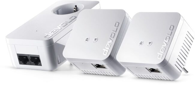 Afbeelding van Witte Devolo (#9643) dLAN 550 WiFi Network Kit Powerline - NL