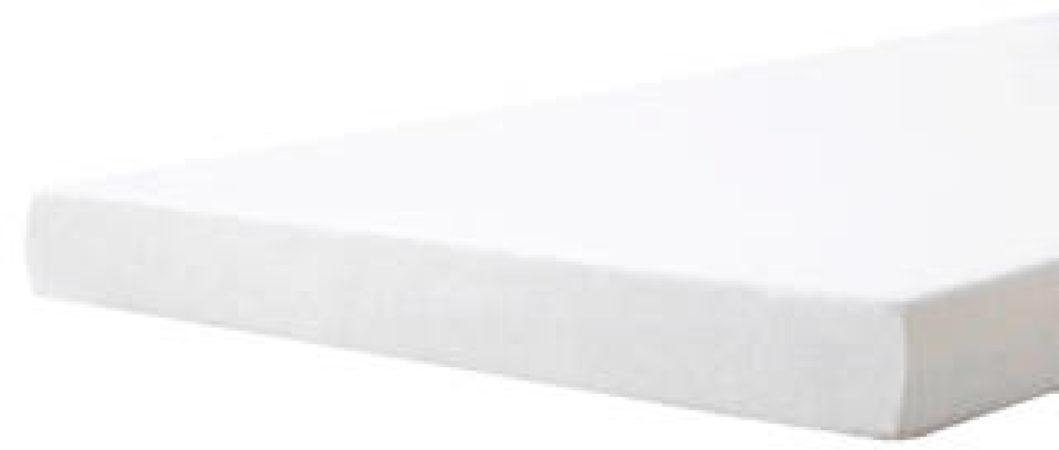 Afbeelding van Beddinghouse jersey topper hoeslaken - 100% gebreide jersey katoen - 1-persoons (70/90x200/220 cm) - White