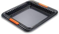 Zwarte Le Creuset Pâtiliss Vierkante Taartvorm 23cm