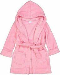 Elowel kamerjas (baadjas) met capuchon voor jongens en meisjes roze (maat 6 Jaar)