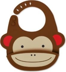 Skip Hop Zoo Fold & Go Siliconen Slabbetje - Monkey