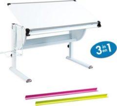 Links Link&acutes Schreibtisch Matts 3 in 1 weiß, pink und grün