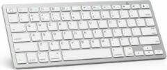 Zilveren Case2go Draadloos Toetsenbord - Wireless Keyboard - Bluetooth - Wit