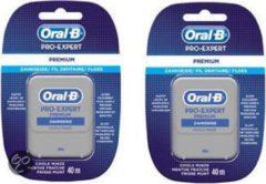 Oral-B Pro-Expert Premium - 2x 40 m - Flosdraad