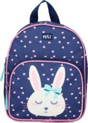 Roze Prêt rugzak Little Smiles meisjes 5,5 L polyester donkerblauw