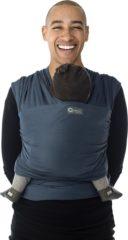 Blauwe Babylonia Tricot-Slen Organic Draagdoek donkerblauw BDDTS 1 911