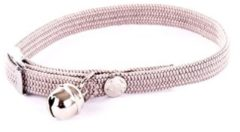 Grijze Martin Sellier Halsband kat elastisch nylon grijs 30 X 1 CM