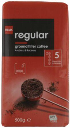 Afbeelding van HEMA Filterkoffie Regular - 500 Gram