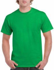 Groene Gildan Felgroen katoenen shirt voor volwassenen L (40/52)