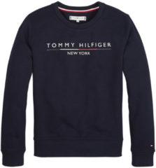 Tommy Hilfiger sweater met logo donkerblauw