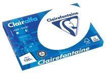 Witte Clairefontaine Clairalfa presentatiepapier formaat A3 120 g pak van 250 vel