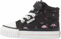 DEE Baby meisjes hoge sneakers flamingo print - Zwart - maat 20