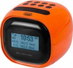 Trevi RC80D2 DAB - Klokradio met digitale ontvanger DAB / DAB+ / FM - oranje