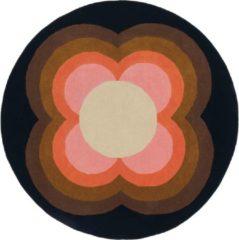 Orla Kiely - Sunflow Pink 60005 Vloerkleed - 150 cm rond - Rond - Rond Tapijt - Retro - Meerkleurig